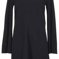**CAPE SLEEVE SHIFT DRESS WITH SCOOP BACK BY RARE