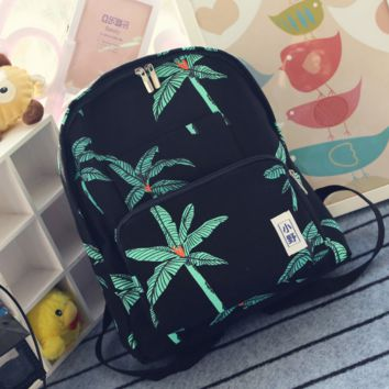 Black Palm Tree Lightweight Backpack