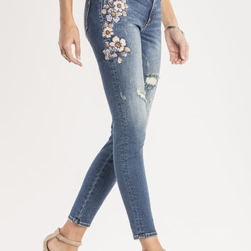 Botanical Babe Mid-Rise Ankle Skinny Jeans