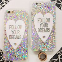 Sequins Heart Iphone 6S 6 plus Cases
