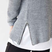 The Narrows Side-Zip Waffle Sweater-