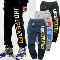Undefeated Woman Men Fashion Pants Trousers Sweatpants