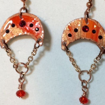 Tangerine Parachute with crystal dangles