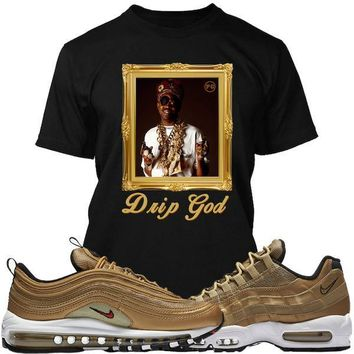 Air Max Metallic Gold Sneaker Tees Shirt - DRIP GOD