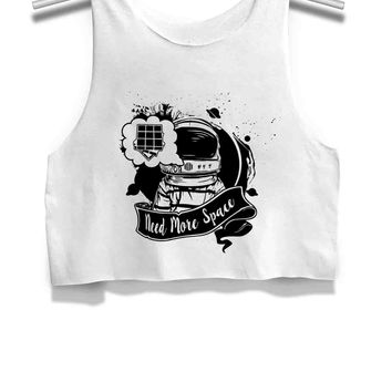 Astronauts Need More Space Womens Crop Tank Top