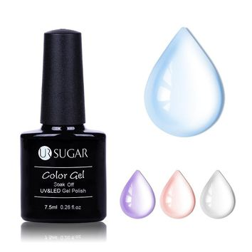 UR SUGAR 7.5ml Opal Jelly Gel Soak Off Nail Polish Manicure Nail Art UV Gel Polish Semi Vernis Permanent Nail Varnish