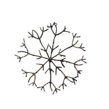 "16"" In The Birches Glitter Twig Snowflake Christmas Ornament"
