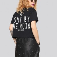 Love By the Moon Crop Tee