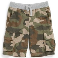 Tucker + Tate Camo Print Twill Cargo Shorts (Toddler Boys)