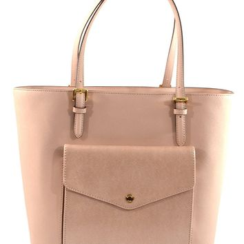 Michael Kors Jet Set Item Large Saffiano Leather Pocket Multifunciton Tote Bag Purse Handbag
