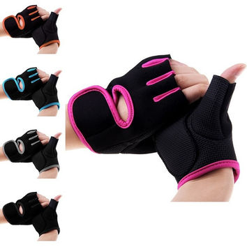 New Womens MANS Weight Lifting Gloves Fitness Glove Gym Exercise Training Size M [7955174151]