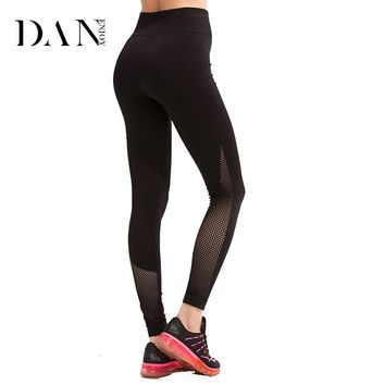 DANENHOY 2018 Women Yoga Leggings Compresion Tights Stirrup Leggings Yoga Quick Dry Fitness Mesh Women Workout Leggings C-562