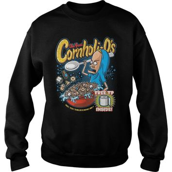 The Great Cornholio are you threatening me Beavis and Butthead  Sweatshirt Unisex