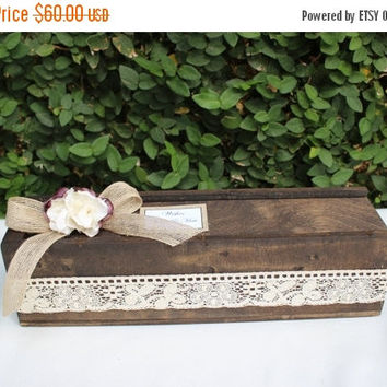 ON SALE Wedding guest book Alternative Wooden Puzzle /  Wedding Wishes Decor