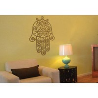 Fatma Hand Wall Decal in Warm Grey | Wayfair