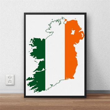 Ireland Flag Modern Coated Poster
