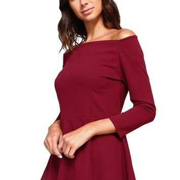 Boatneck Peplum Top