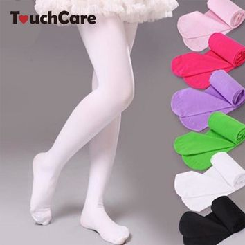 13 Colors Solid Girls Ballet Dance Tights Velvet Pantyhose Kids Knee High Socks Princess Soft Stockings