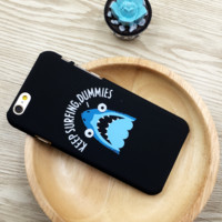 Cartoon shark black phone case for iPhone 6 6S 6plus 6Splus 1108TB-ZM