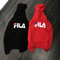 FILA Fashion Simple Hoodie Top Sweater