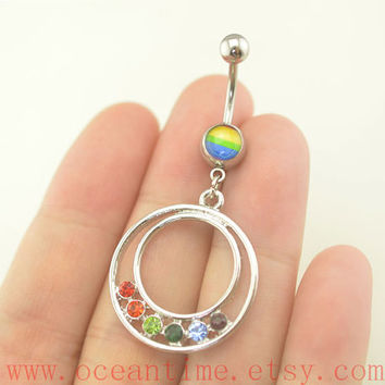 Belly Button Rings,wonderful Navel Jewelry,turquoise belly button jewelry,dangle belly button rings,oceantime