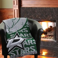 Dallas Stars 48'' x 60'' Double Play Triple Woven Jacquard Throw