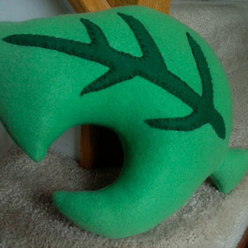 Animal Crossing Inspired Leaf Pillow