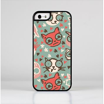 The Vector Cat Faced Collage Skin-Sert for the Apple iPhone 5-5s Skin-Sert Case