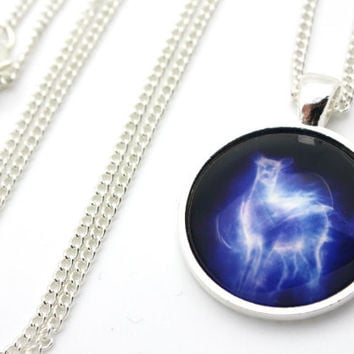 Harry Potter, Severus Snape Silver Doe Patronus Necklace