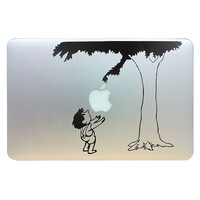 """Cute Child under the tree Funny Vinyl Laptop Skin Decal fits for Apple Macbook Pro / Air 13"""" Pro 13inch retina Gift"""