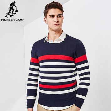 New Spring thin sweater men clothing fashion men pullover quality striped knitted sweater male