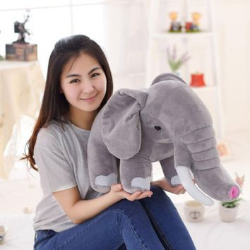 Big Stuffed Plush Elephant Toy Pluche Stuffe Speelgoed Gifts Kids Gray Kawaii Plush Toy Elephant Stuffed Animal Toy 60cm 70C0342