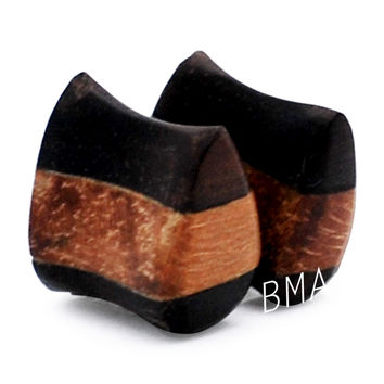 2g (6mm) Areng & Jaya Wood Teardrop Plugs #1413
