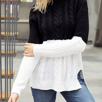 273388574418 Shop Women s White Cable Knit Sweaters on Wanelo