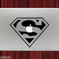 Superman Logo Symbol Icon Unique Decals Stickers For Macbook 13 Pro Air Decal