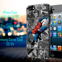 Spiderman Marvel Comic Samsung Galaxy S3/ S4 case, iPhone 4/4S / 5/ 5s/ 5c case, iPod Touch 4 / 5 case
