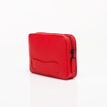 Palais Royal Luxury Clutch Bag in Red Buffalo by Anonyme