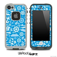 Blue Nautical Collage Skin for the iPhone 5 or 4/4s LifeProof Case