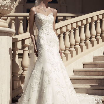 Casablanca Bridal 2117 Beaded Lace Fit & Flare Wedding Dress