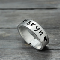 Custom Name Cuff Ring