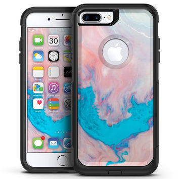 Marbleized Pink and Blue Paradise V322 - iPhone 7 or 7 Plus Commuter Case Skin Kit