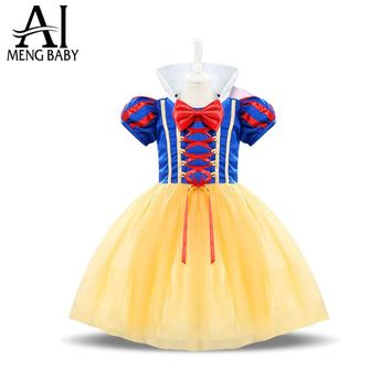 Ai Meng Baby Girl Princess Snow White Costumes Cosplay Cute Kids Halloween Outfits Dress Up Girl Dress For 1-2 Year Newborn Baby