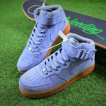 Nike Air Force 1 Mid AF1 Blue Sport Shoes - Best Online Sale 20add6597d