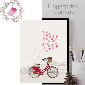 funlife DIY Fingerprint Wall Sticker Wedding Party Birthday Guest Book Creative Home Decoration Accessories Unique Wall Decals