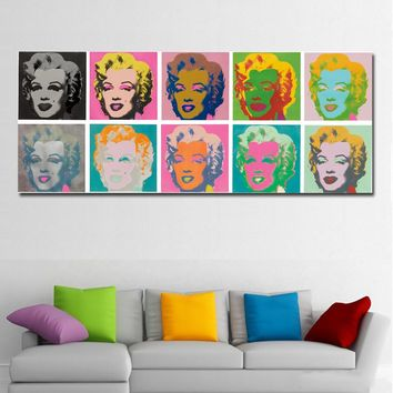 SELFLESSLY Painting Wall Art Andy Warhol Marilyn Monroe Art Prints Nature Wall Pictures Painting Prints On Canvas No Frame