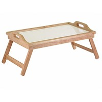 Breakfast in Bed Tray Table with Handles & Foldable Legs