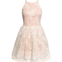 Sleeveless lace dress - from H&M