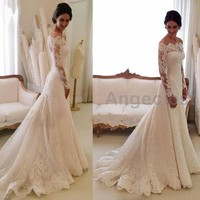 Vintage Mermaid Lace Wedding Dresses