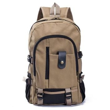 Sports gym bag Men/Women Vintage Canvas Spot Bag Backpack Schoolbag Satchel Camping Hiking  Rucksacks Large Capacity BACKPACK SPORTS KO_5_1
