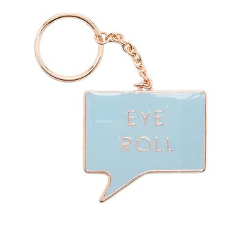 Eye Roll Talk Bubble Keychain